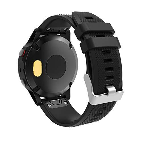Protector de Pantalla de Reloj Inteligente Smart Watch Charging Port Silica Gel Antidust Stopper Tapón a Prueba de Polvo for Fenix 5 / 5S / 5X (Color : Amarillo)