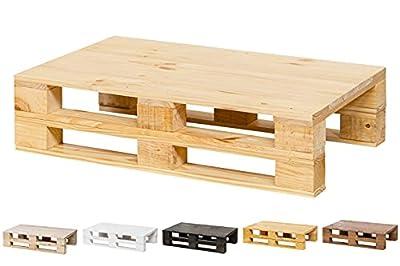 🌲LOS MATERIALES DE NUESTROS PALETS 🌲: Nuestro palets son fabricados con madera nueva maciza de pino de 1ª calidad, con lijado previo (no son palets reacondicionados, son nuevos). Mesa de Centro de PALETS NUEVOS - Mesa VINTAGE - RÚSTICA. 🌲DECORACIÓN I...
