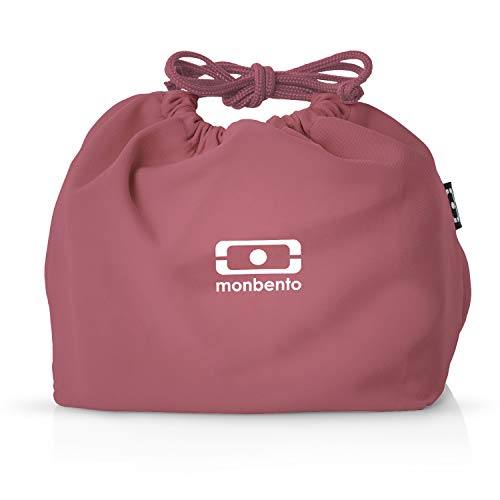 monbento - MB Pochette Lunch Tasche - Polyester Bento Tasche - Geeignet für MB Original MB Square & MB Tresor Bento-Boxen (M, Blush)