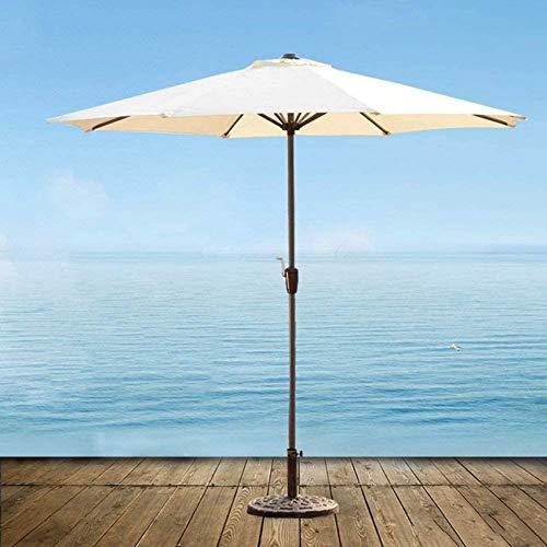 FGVBC Sombrillas Sombrilla para Exterior Mercado Patio Jardín Mesa de césped Toldo para el Sol Paraguas de Poste de Hierro Sombrilla Protectora contra Rayos UV Sombrillas al Aire Libre