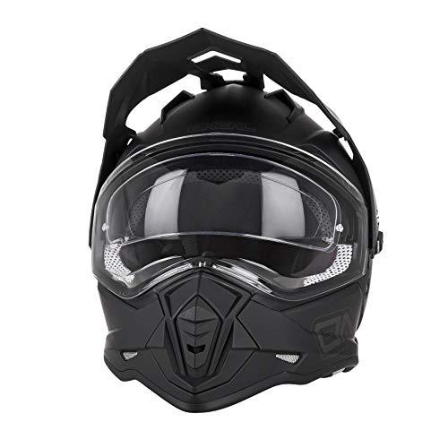 O'Neal | Casco de motocicleta | Moto Enduro | Aberturas de ventilación para un máximo flujo de aire y refrigeración, visera solar integrada | Casco Sierra II plano | Adultos | Negro | Talla L