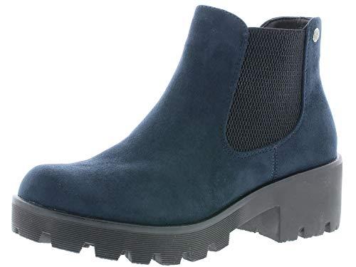 Rieker Damen Stiefel 99284, Frauen Winterstiefel, Freizeit Winter-Boots halbschaftstiefel gefüttert warm Lady,Nautic,38 EU / 5 UK