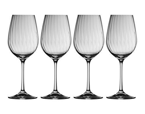 Galway Crystal Erne Wine Glasses (Set FO 4), Transparent, Set of 4
