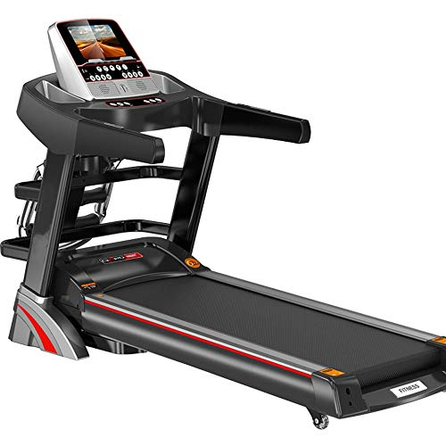 YFFSS Ultra High Capacity Walk to Fitness Electric Treadmill, Quiet Home Treadmill, Fitness Folding Color Touch Screen Smart Electric Treadmill, Gym Tools