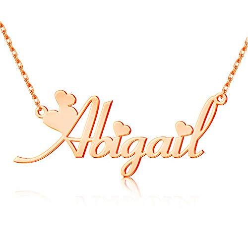 Collar con Nombre Personalizado, Nombres Personalizados Collares Delgados para Mujeres y Muchachas Colgante Joyería Moderna para Madres y Novias Regalo Cumpleaños