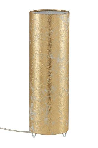 Briloner Leuchten,Tischlampe Kunststoff, goldfarben, 7711-017, für max. 25 Watt, E 27, 34 x 11 cm