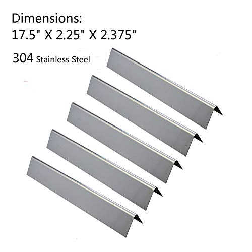 GasSaf Gas Grill 17.5 inch Flavorizer Bar Replacement for Weber Genesis 300 E310 S310 E330 EP-330 Series Grills -Lasting 304 Stainless Steel (17.5 x 2.25x 2.375 inch)(5-Pack)