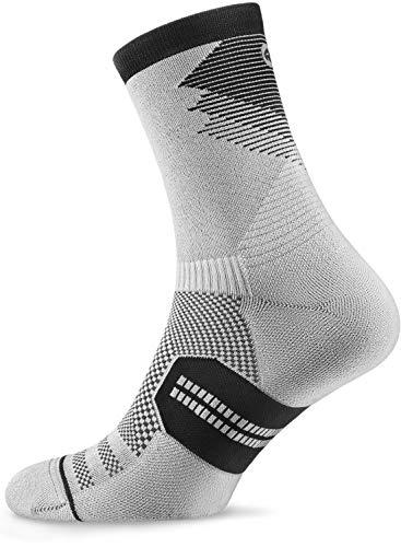 Rockay Razer Trail - Calcetines de correr para hombre y mujer, cojín de corte tripulado, soporte de arco, 100% reciclados, antiolor (1 par)