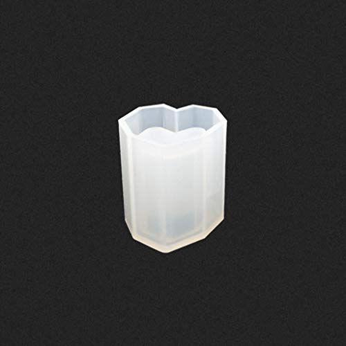 Generic Silicone Mold Pen Holder Container Storage DIY Epoxy Resin Flower Heart Shape Crafts Desk Decoration Jewelry Making Molds 2#