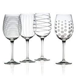 set of 4 mikes wine glasses