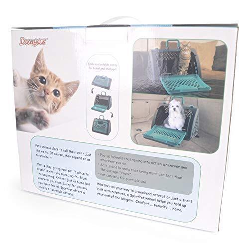 YZjk Travelling Pet Band Transportbox - gemäß den Iata-Anforderungen für den Transport lebender Tiere, großer Transportkoffer für Haustiere, ausklappbarer, tragbarer Katzen-Hundekäfig