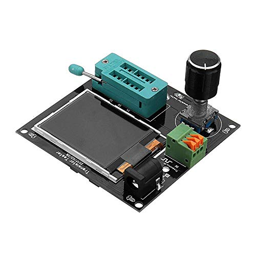 L-YINGZON 9-12V DC Simple Transistor Frequency Meter 160x128 LCD PWM Square Wave Generator LCR Table NPN FET PNP Diode Measurement Driver Modules