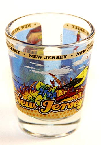 New Jersey State Wraparound Shot Glass