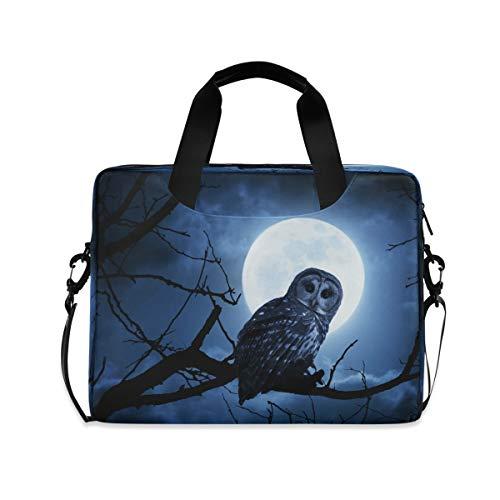CCDMJ Laptop Case Animal Bird Owl Tree Laptops Sleeve Shoulder Messenger Bag Briefcase Notebook Computer Tablet Bags with Strap Handle for Women Man Boys Girls 16 Inch