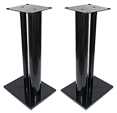 Fisual Dynami Duo Speaker Stands 600mm (Pair) (600mm, Gloss Black) by Fisual