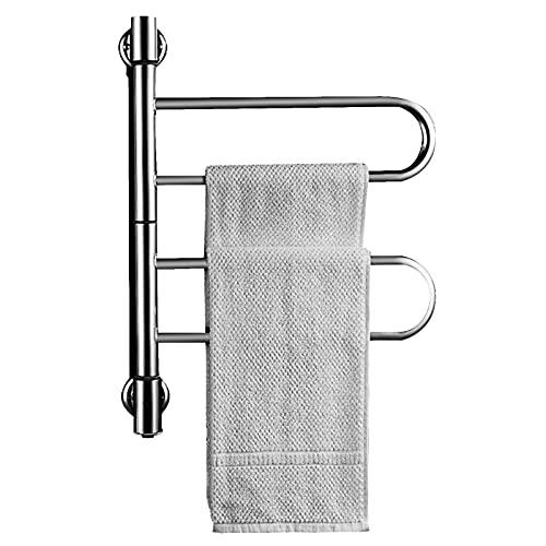 Bospyaf Toalla De Calefacción Eléctrica Inteligente, Secadora De Baño De Acero Inoxidable 304 Sin Perforación Temperatura Constante Towel Rack,B