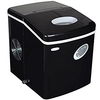 NewAir Counter Top Ice Maker Machine  Black  Compact Automatic Ice Maker Cubes Ready in 6 Minutes 28 Pounds In 24 Hours - Perfect For Home/Kitchen/Office/Bar