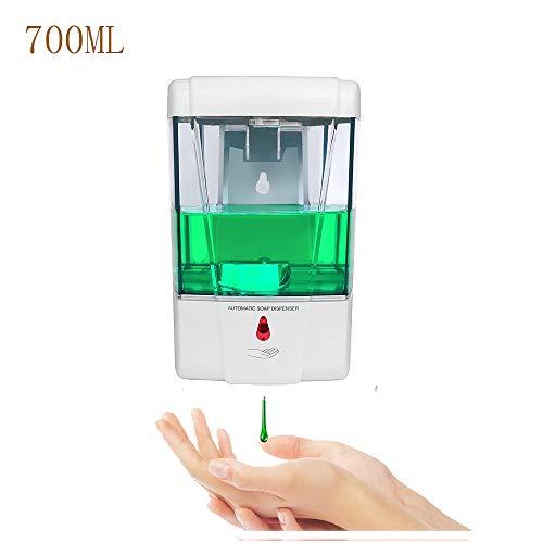 SUNJULY Seifenspender zur Wandmontage, Automatischer Seifenspender mit Sensor, Batteriebetriebener, für Bad und Küche Kindergärten, 700 ml