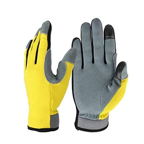 YDS SHOP handschoenen herfst en winter rijhandschoenen leer warm slijtvast touchscreen Outdoor Sports mountainbike Medium
