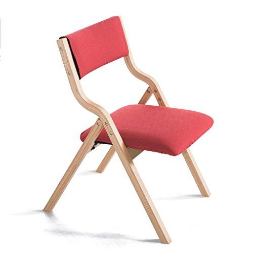 Fauteuils Chaise Pliable en Bois Solide détachable Facile à Nettoyer de Couverture de siège et Chaises (Couleur : O)