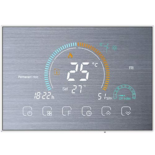 Veemoon Termostato Inteligente Wifi con Pantalla Táctil Termostato Inalámbrico a Temperatura Ambiente Controlador Electrodomésticos para Oficina en Casa Inteligente Interior