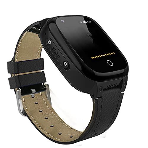 FVIWSJ Reloj Inteligente para Anciano Prueba Agua IP67,Teléfono Smartwatch LBS localizador SOS Alarma por Chat Voz Cámara,Regalo para Anciano Reloj Digital de Pulsera