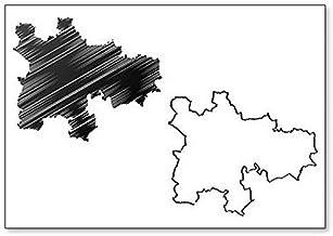 Glasgow - Imán para nevera, diseño de mapa de Escocia, Reino Unido, Escocia