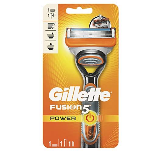 Gillette Fusion 5 Power Rasierer Herren mit Trimmerklinge für Präzision und Gleitbeschichtung, Rasierer + 1 Rasierklinge