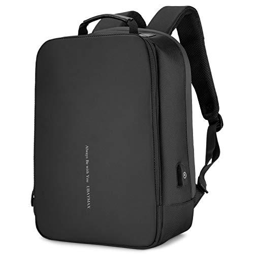 UBAYMAX Anti-diebstahl Rucksack mit USB Ladeanschluss, Wasserdicht Business 15,6 Zoll Laptop Rucksack mit Ladegerät Herren Damen, Mehrzweck Reisetaschen Daypack für Arbeit Schul Reisen, Schwarz