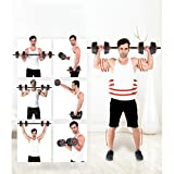 Mancuernas 15 KG Ajustable Gym Equipment Mancuernas 2 en 1 con Mancuernas/Barra for Pesas, Color: Negro Fitness y Ejercicio (Color : Black)