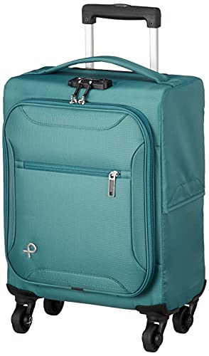[プロテカ] スーツケース 軽量ソフトキャリー サイレントキャスター搭載 コインロッカーサイズ 1.3kg 18L 日本製 エセリアTR 12941 38 cm ブルーグリーン