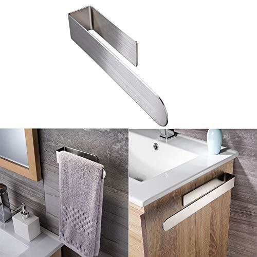 Handtuchstange Handtuchhalter ohne Bohren, Handtuchring Selbstklebend Edelstahl Handtuchhalter Schienenzubehör für Badezimmer Küche
