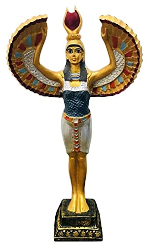 WQQLQX Statue Harz ISIS Skulptur Ägyptisch Gott Statue Alte ägyptische Weibliche Patronus Handwerk Bemalte Modell Dekoration Sammlung Geschenk Geschenk Figuren Skulpturen