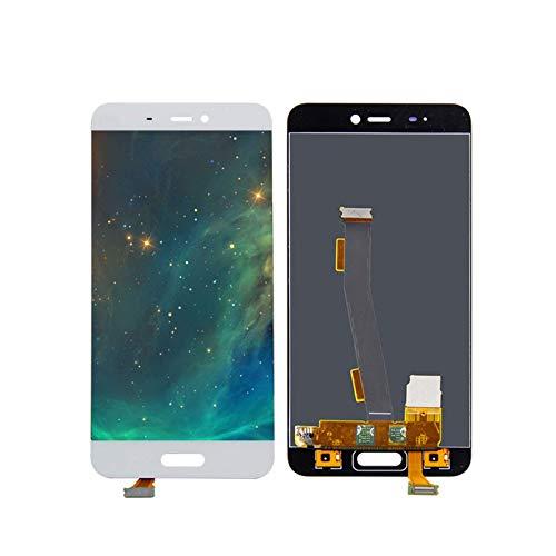 Kit de accesorios para pantalla LCD Xiaomi Mi5 de 5.1 pulgadas con pantalla táctil digitalizador + marco con herramientas para Mi 5 LCD 1920 x 1080 pantalla táctil (color blanco con marco)
