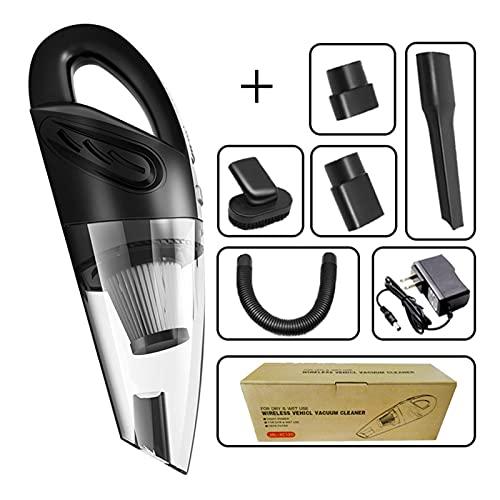 KOLOSM Aspirador Coche Limpiador de aspiradora de Autos de Mano húmedo y seco inalámbrico Mini Recargable súper de succión portátil para aspiradora de automóviles (Color : US Plug)