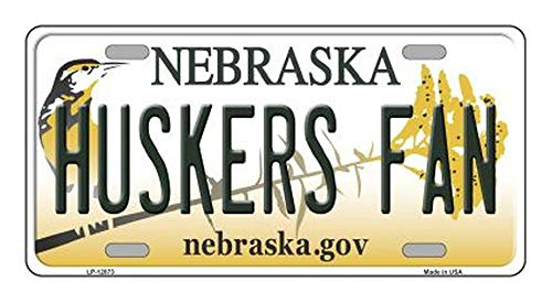 Huskers Fan Novelty Metal License Plate (with Sticky Notes)
