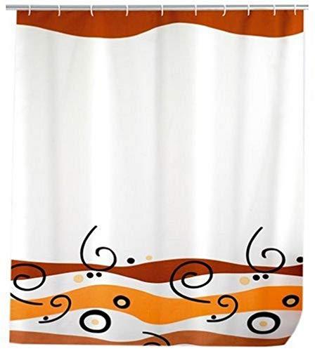WENKO 19172100 Duschvorhang Waves - hochwertiges Textilgewebe, 120 x 200 cm