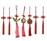 Chinese Knot,  I-Ching Feng Shui Coins and Chinese Character for Good Luck and Healthy (7)
