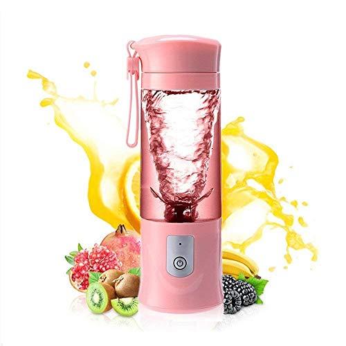 YLOVOW Mini Batidora Electrica,Portátil Batidora de Vaso 400ml,para Smoothies, Zumos de Fruta y Verdura,Personal licuadora Taza de Molienda de 400 ML,Pink