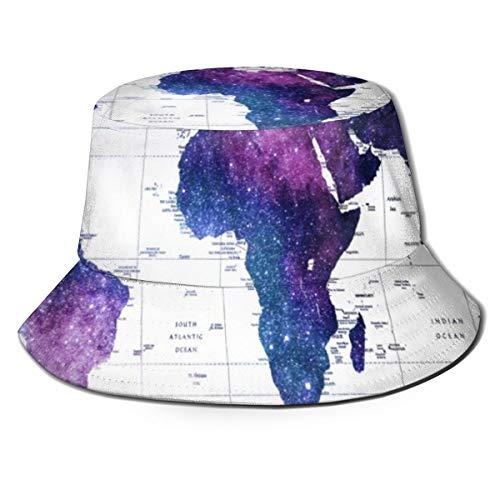NoneBrand Allround The World Galaxy Map Flache Oberseite, atmungsaktiv, Fischerhut, Unisex
