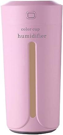 SuperH 230ML和風加湿器テーブルアロマ式加湿器超音波式加湿器アロマディフューザー小型ナシ型殺菌空気清浄機超静音LEDライト間接照明防乾時間設定室内オフィス干渉花粉症対策 (Color : Pink)