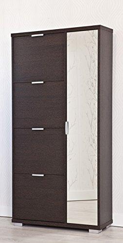 Top Kit | Mueble Zapatero Amazonas 63ab | Medida 175 x 81,5 x 28 cm | Armario Zapatero | Organizador de Zapatos | Wengue