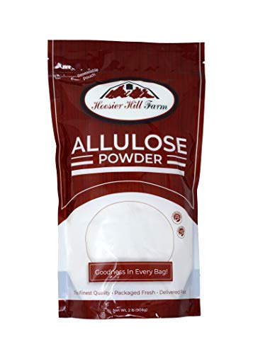Hoosier Hill Farm ALLULOSE Low Calorie, Zero Net Carb Keto Sugar, Natural Sugar Alternative, Made in the USA, Granular Powder, 2 lb bag, batch tested gluten free