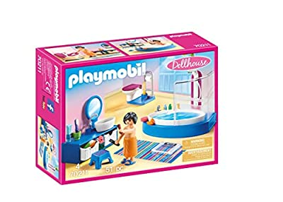PLAYMOBIL Bathroom with Tub Furniture Pack, Colourful, One Size