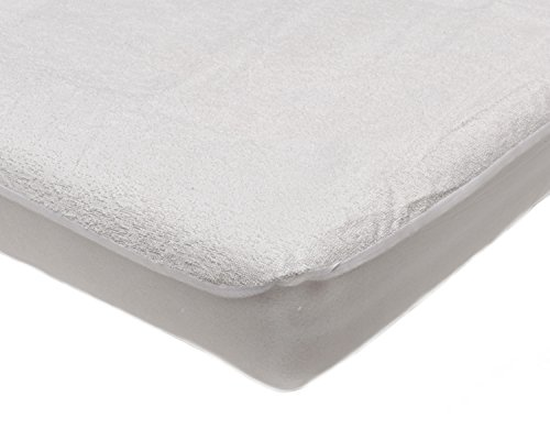 Harwoods Soft Terry Towelling Fitted Mattress Protector Waterproof Absorbent Cover - White (Bunk 2 ft 6)