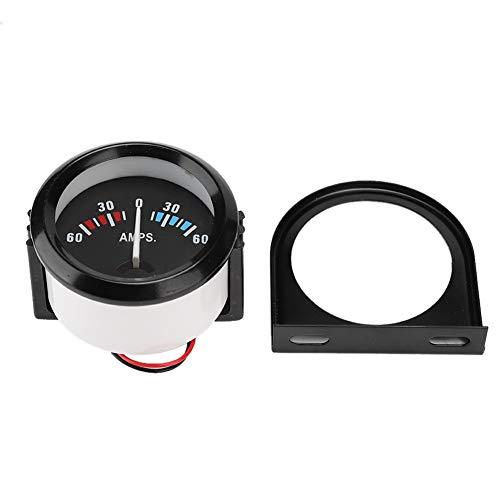 Auto-Amperemeter, 2 Zoll 52 mm Auto-Amperemeter Voltmeter 60-0-60A AMP-Messgerät Voltmeter zur Änderung