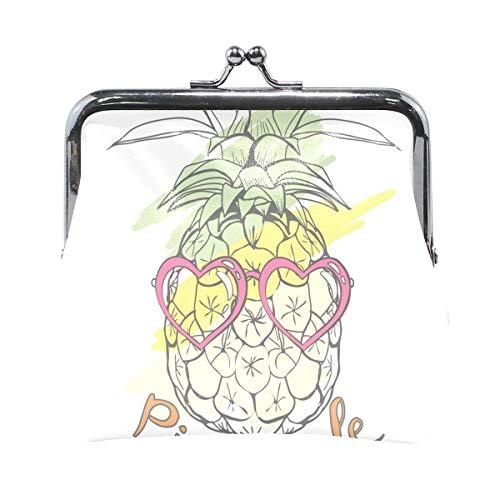 Münzgeldbörsen Ananas Tropical Kiss-Lock Schnallenkupplung Kosmetiktaschen