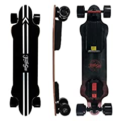 ▶Electric Skateboard Basic Parameters: The H20 longboards skateboards reached a maximum speed of 24mph and climbed at a 30-degree angle. High-performance battery charging takes only 4 hours, 30 kilometers battery range, 90*54mm PU wheels offer the sm...