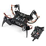 Freenove Quadruped Robot Kit with Remote (Compatible with Arduino IDE), App Remote Control, Walking Crawling Twisting Servo Stem Project
