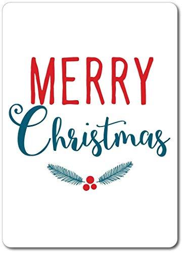 5562 Señal de advertencia de Navidad con texto en inglés 'Merry Christmas Lover' y texto en inglés 'Let It Snowman Let It Snow'
